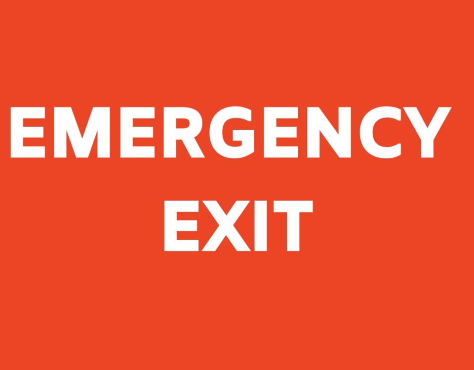 Emergency Exit - Hai un piano B per la tua strategia online?