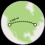 Misura la distanza tra due o più punti di una mappa.